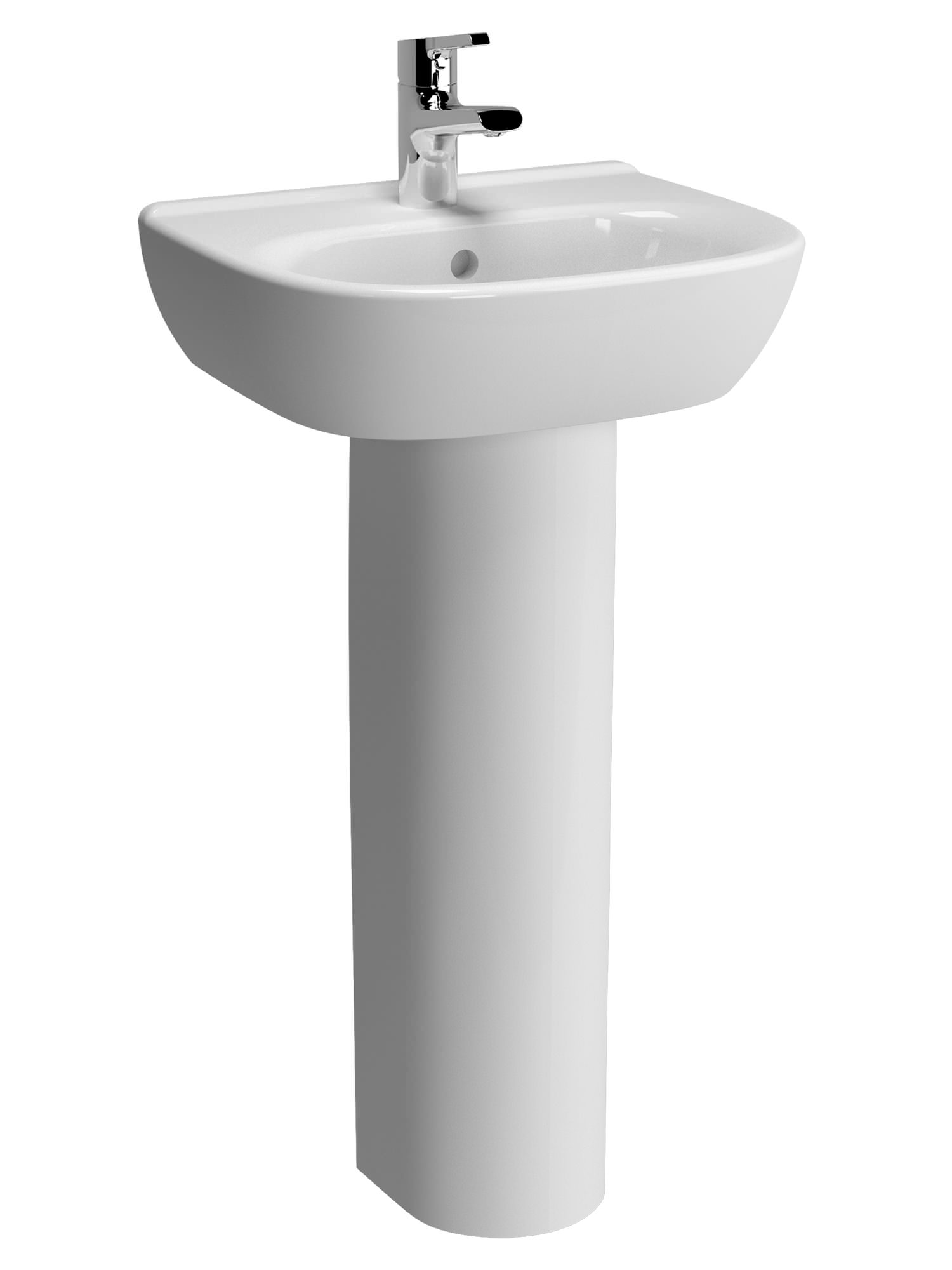 Vitra Zentrum 450mm 1 Tap Hole Basin With Full Or Semi