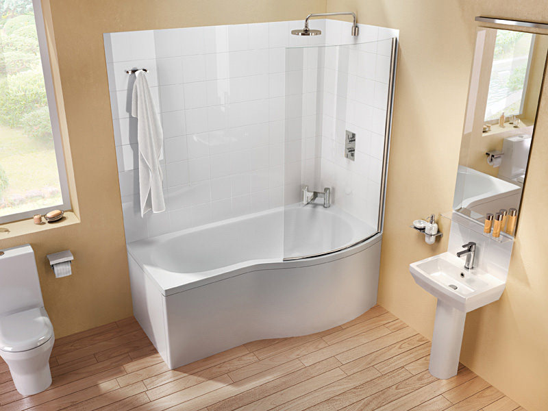 Britton Cleargreen EcoRound 1700 x 900mm Right Hand Shower Bath | R22