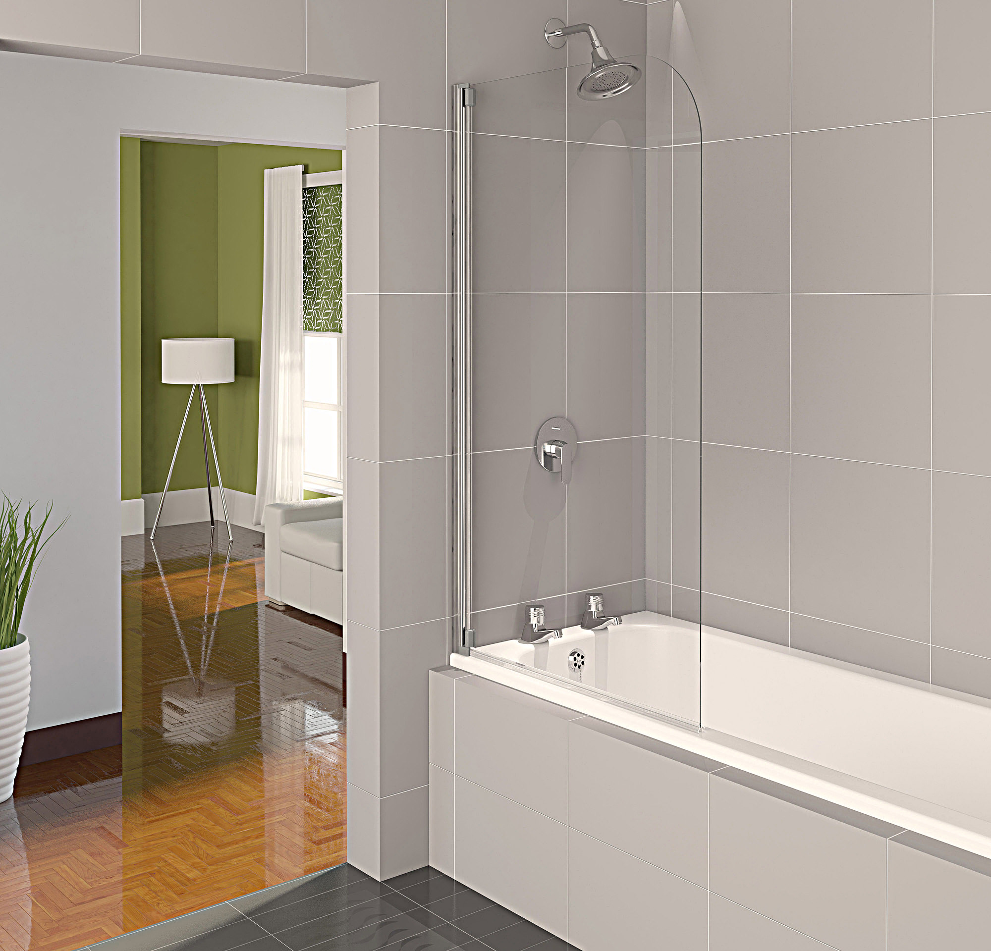 Half Bath Shower Screens