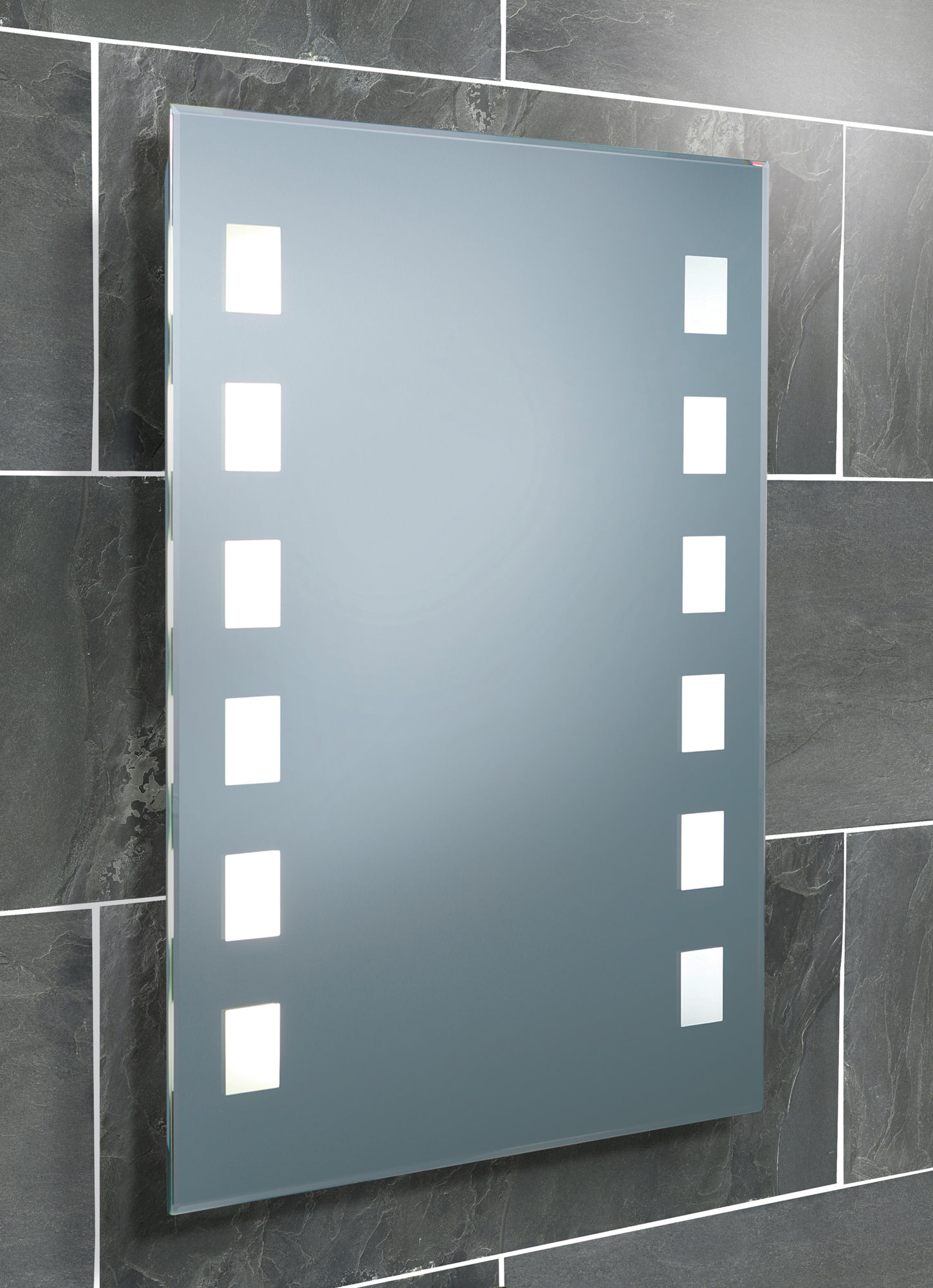 HIB Halifax Fluorescent Back Lit Bathroom Mirror 500 X 700mm