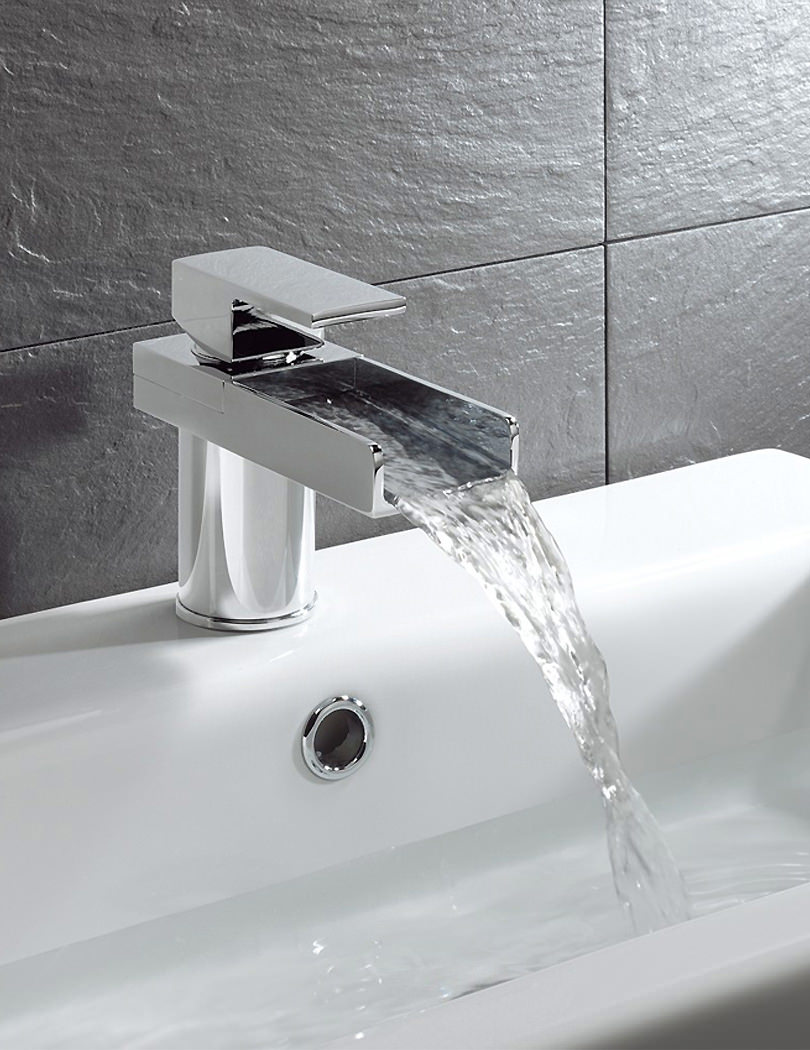 crosswater water square monobloc basin mixer tap ws110dnc. Black Bedroom Furniture Sets. Home Design Ideas