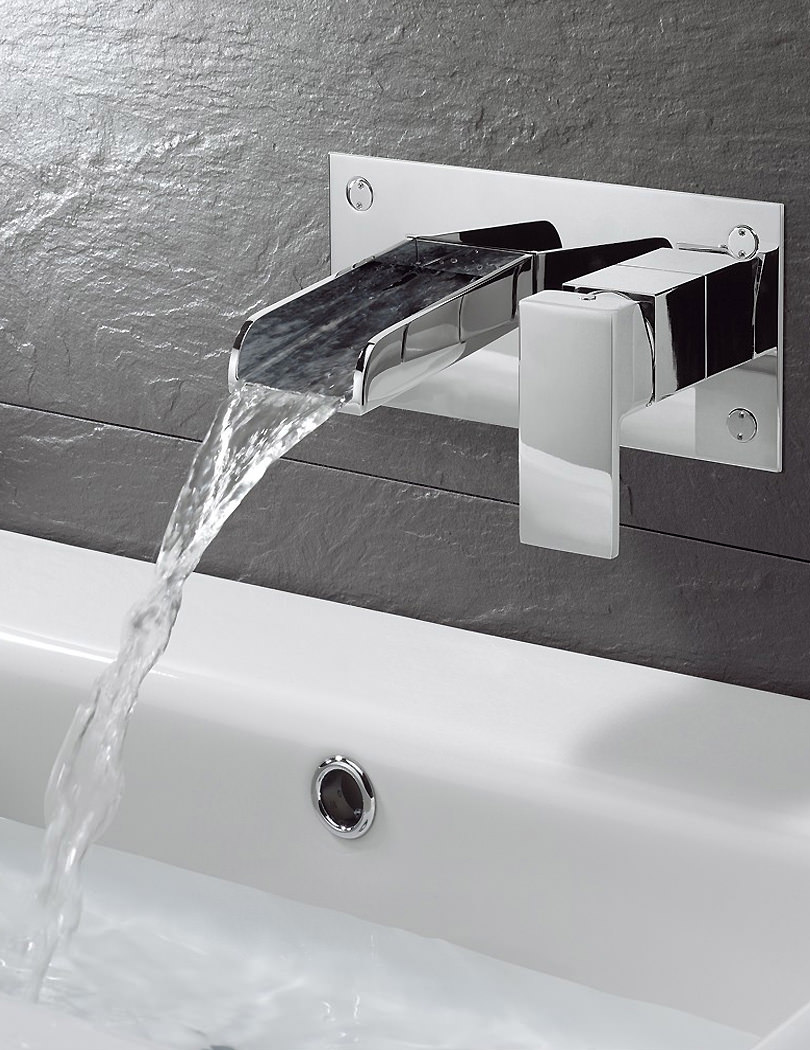 Crosswater Water Square Wall Mounted 2 Hole Basin Mixer