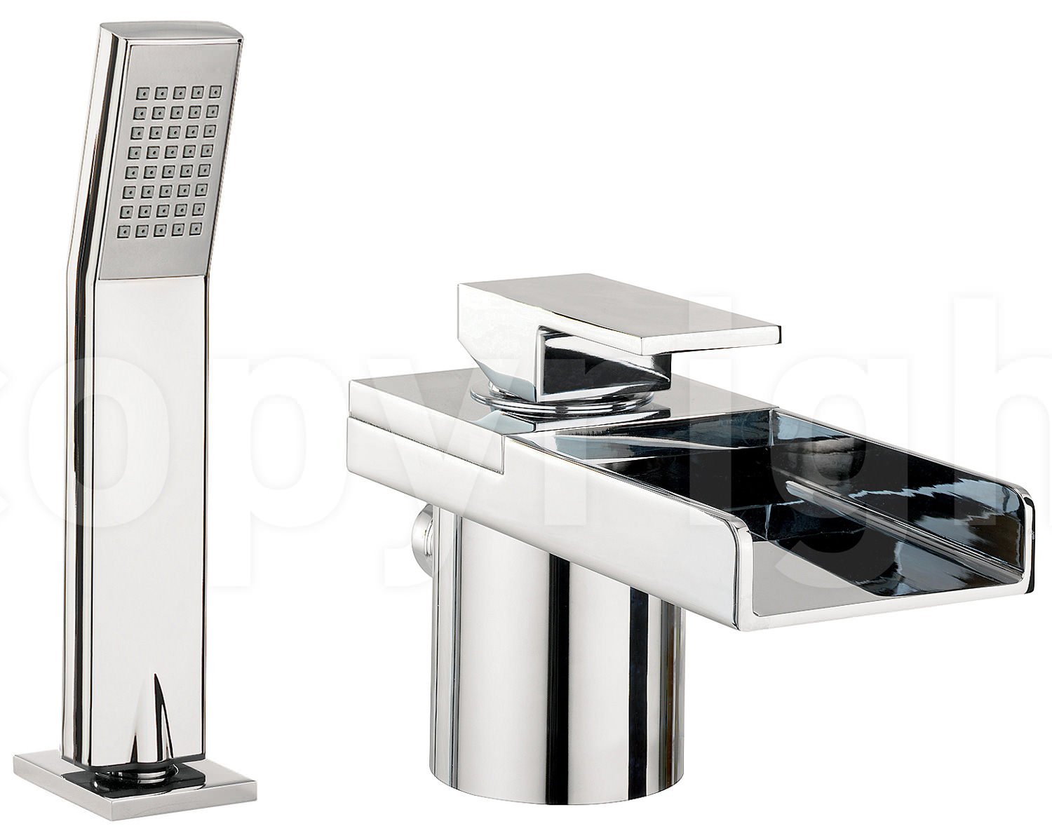 Crosswater Water Square Deck Mounted Bath Shower Mixer Tap