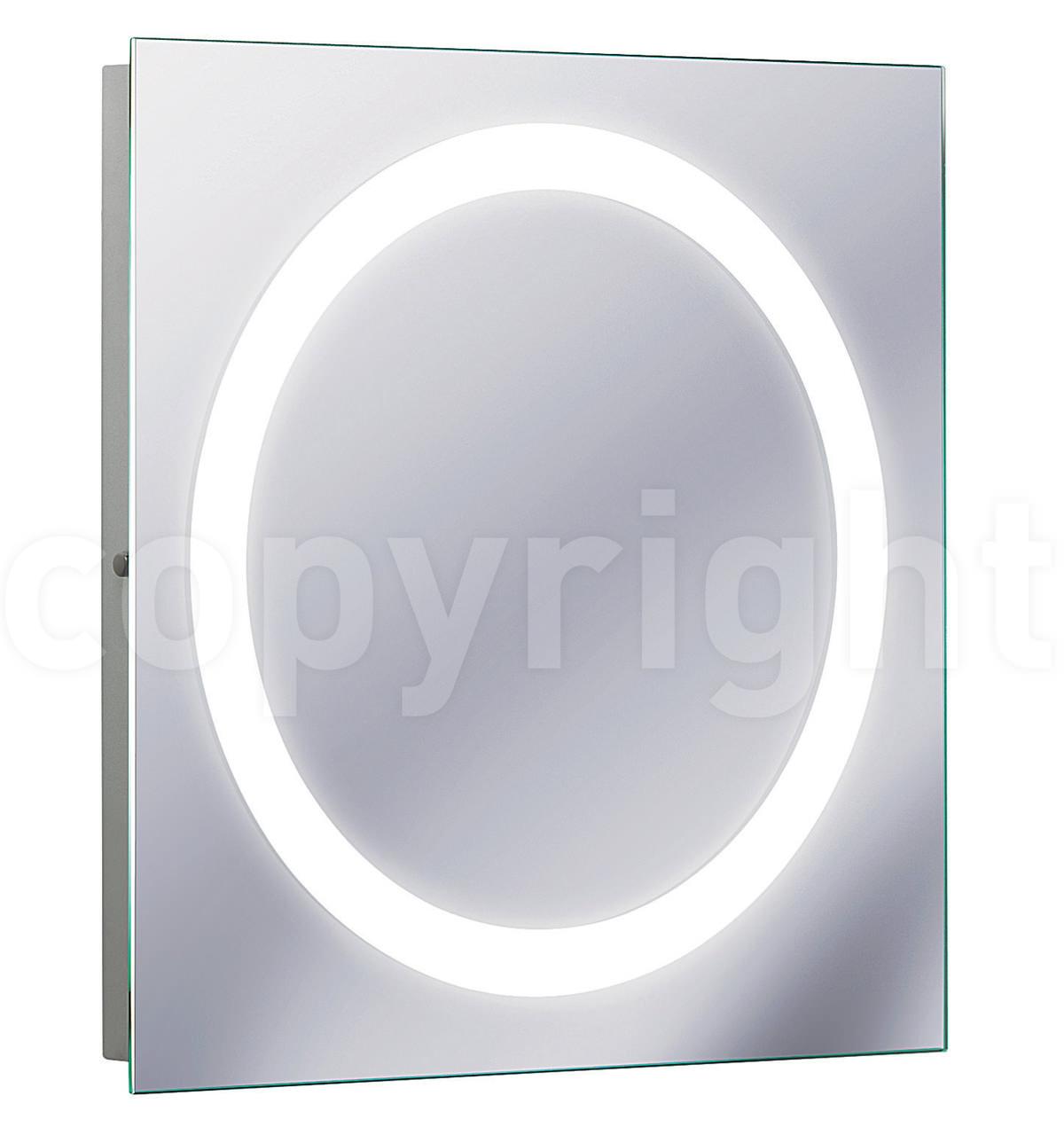 Bauhaus edge illuminated mirror 550 x 550mm mf5555a for Illuminated mirrors