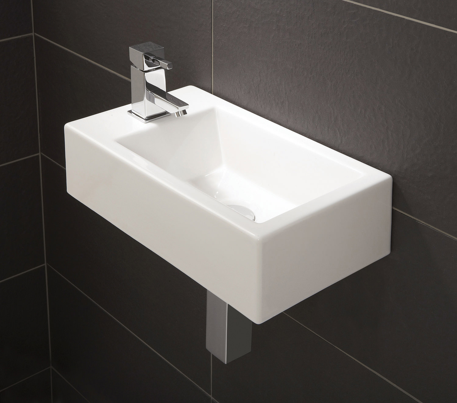 Powder Room Design Hib Rialto Metro Cloakroom Basin 440 X 250mm 9770
